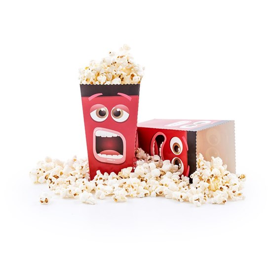 Fun Movie Face Popcorn Box - Pack of 8 Popcorn Boxes