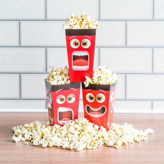 Fun Movie Face Popcorn Box Pack Of 40 Popcorn Boxes Impressive Decorative Popcorn Boxes