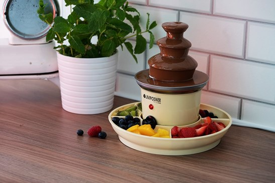additional image for Mini Home Chocolate Fountain with Serving Trays
