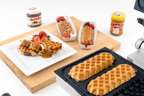 additional image for New Automatic Stuffed Waffle Maker - Create 4 Stuffed Waffles in Minutes