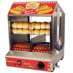 View Hot Dog Steamer with 120 Free Bockwurst Hotdogs!