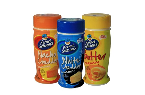 Kernel Seasons Three Popcorn Seasonings - Butter, White Cheddar & Nacho Cheddar