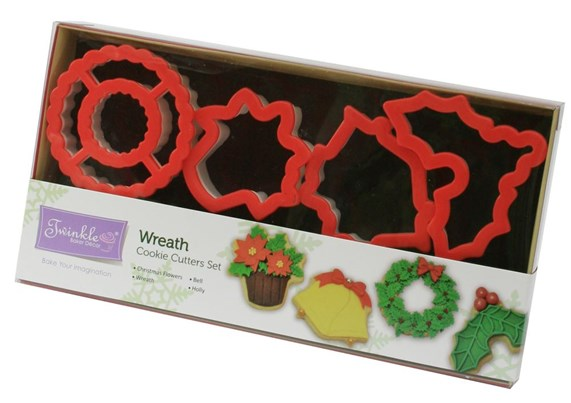 Twinkle Baker Decor Wreath Cookie Cutter Set