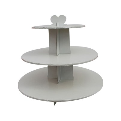 Twinkle Baker Decor White 3 Tier Cupcake Stand