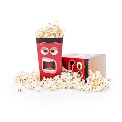 View Fun Movie Face Popcorn Box - Pack of 8 Popcorn Boxes