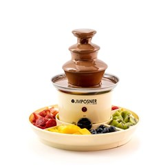 View Mini Home Chocolate Fountain with Serving Trays