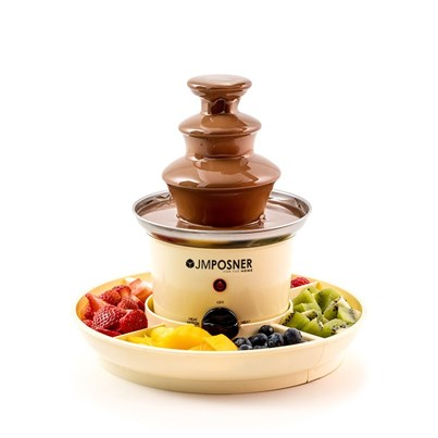 JM Posner Mini Home Chocolate Fountain with Serving Trays