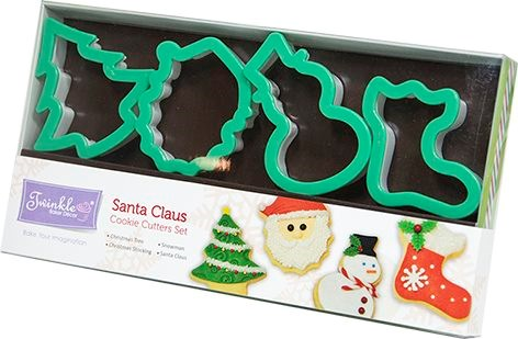 Twinkle Baker Decor Santa Claus Cookie Cutter Set