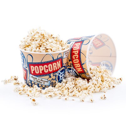Wabash Valley Farms 'Lights, Camera Action' Movie Style Popcorn Tubs - Pack of 4 Popcorn Boxes