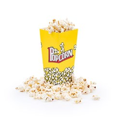 Large Yellow Popcorn Box - Pack of 8 Popcorn Boxes