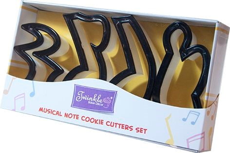 Twinkle Baker Decor Musical Note Cookie Cutters Set