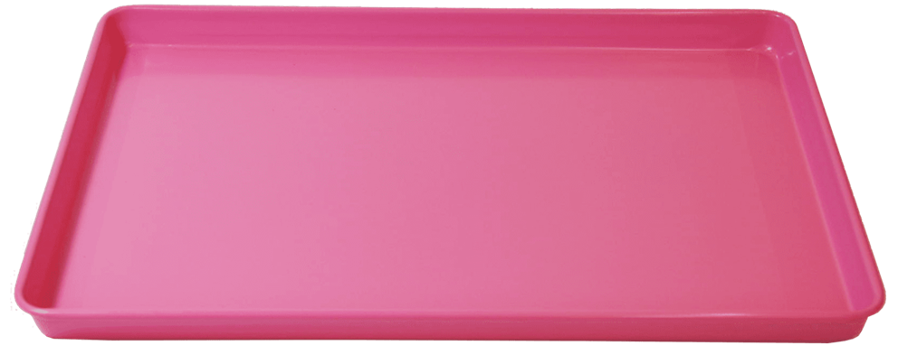 JM Posner Pink Metal 17 inch Oven Tray