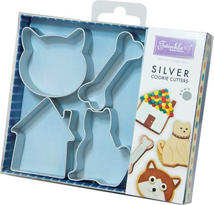Twinkle Baker Decor Cats & Dogs Cookie Cutter Set