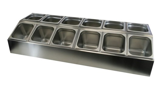 additional image for Stainless Steel Serving Station - 12 Containers