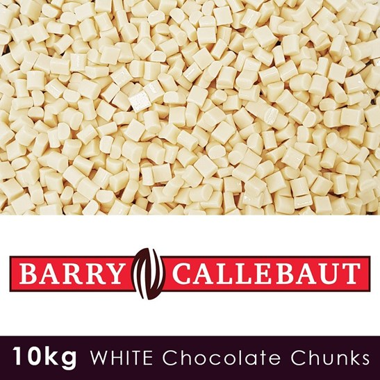 Luxury White Chocolate Chunks - 10 KG Case