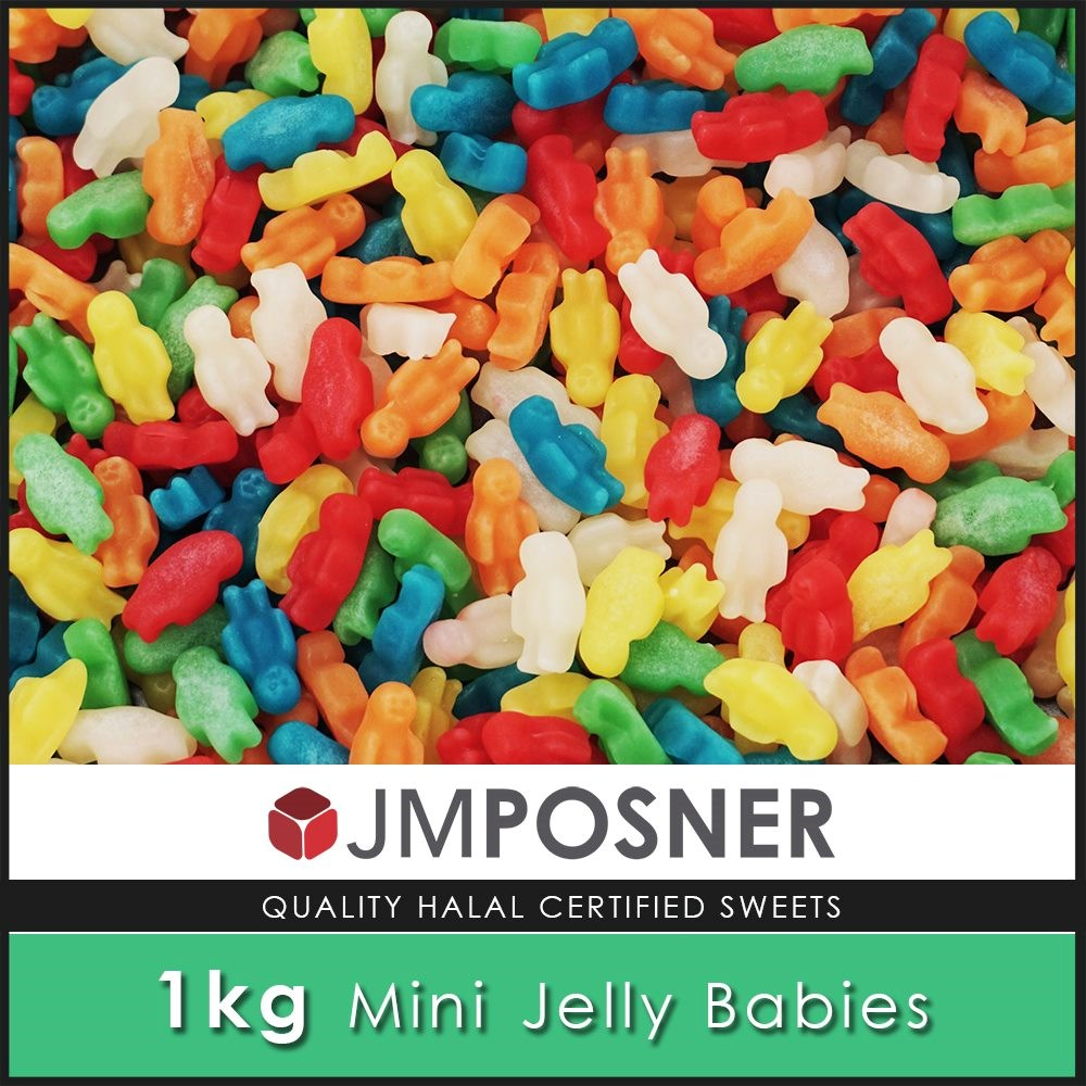 Mini Jelly Babies - 1kg Bag
