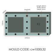 additional image for Chocolate Mould - Magnetic Square