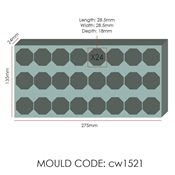 additional image for Chocolate Mould - Small Diamond