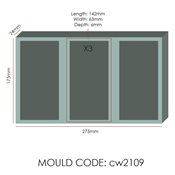 additional image for Chocolate Mould -  Rectangle Tablet - 3x5