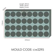 additional image for Chocolate Mould - Cone - 29x21mm