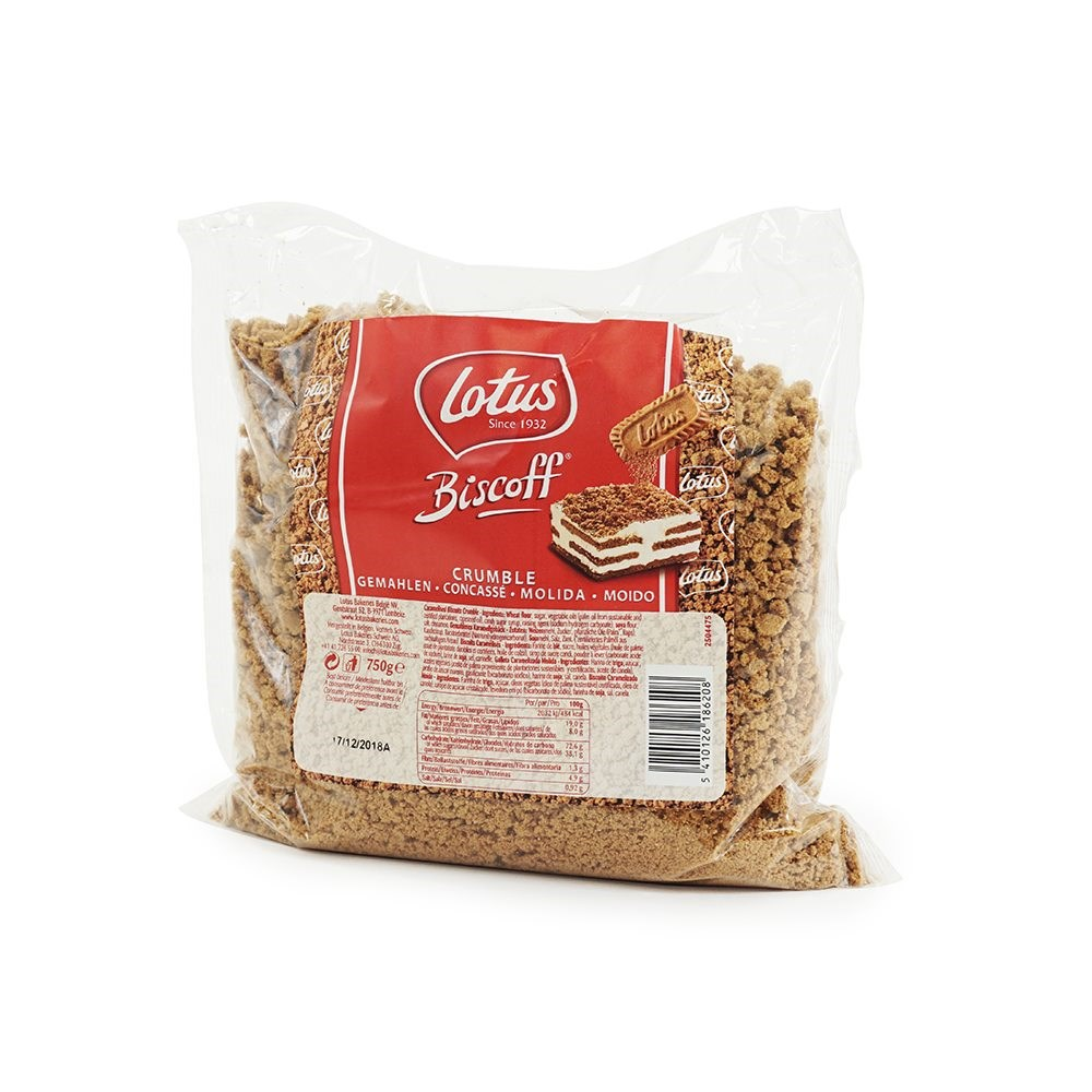 SPECIAL OFFER ON 3 & 6 BAGS! Lotus Biscoff Crumble - 750g Bag