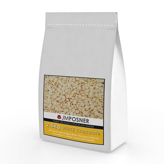 additional image for Luxury Belgian White Chocolate 2.5 kg bag