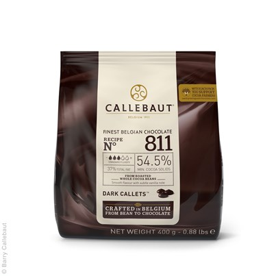 Barry Callebaut Finest Belgian Dark Chocolate 400g Pouch