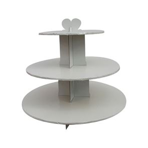 White 3 Tier Cupcake Stand
