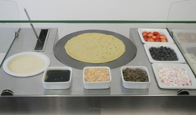JM Posner Crepe Serving Station - Perfect for Holding Supplies and as a Counter