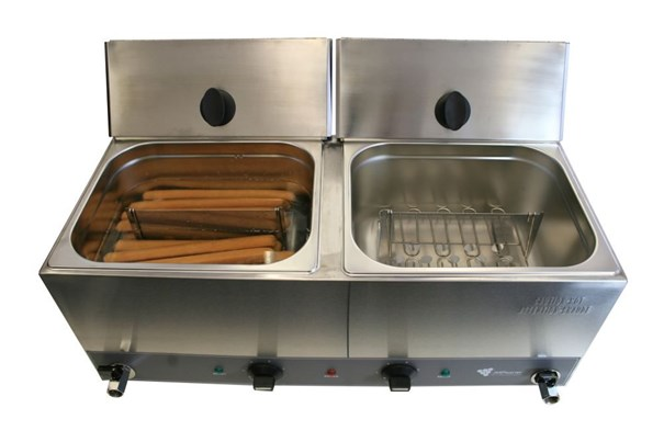 JM Posner Hot Dog Warmer-Double