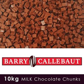 Luxury Milk Chocolate Chunks  - 10kg Case