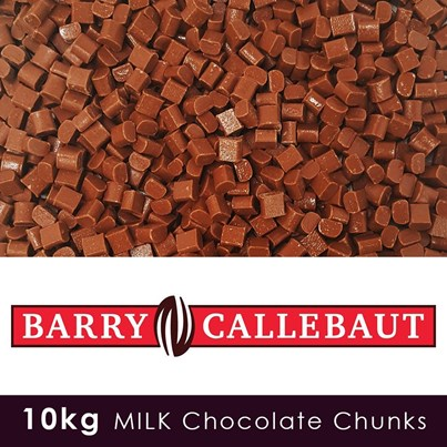Barry Callebaut Luxury Milk Chocolate Chunks -10 KG Case