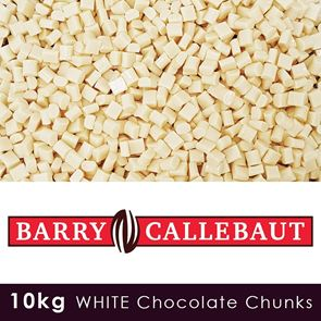 Luxury White Chocolate Chunks - 10kg Case