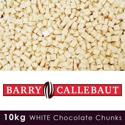 Barry Callebaut Luxury White Chocolate Chunks - 10 KG Case