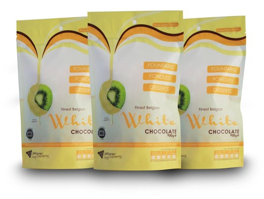 JM Posner 3 X Finest Belgian White Chocolate Bags - 900g Value Pack
