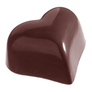 Chocolate Mould - Small Puffy Heart - 9g