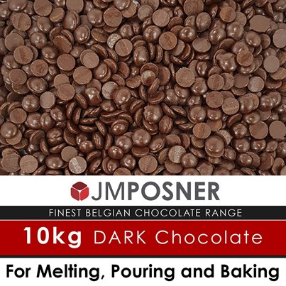 JM Posner Luxury Belgian Fountain Ready Dark Chocolate 10 kg bag