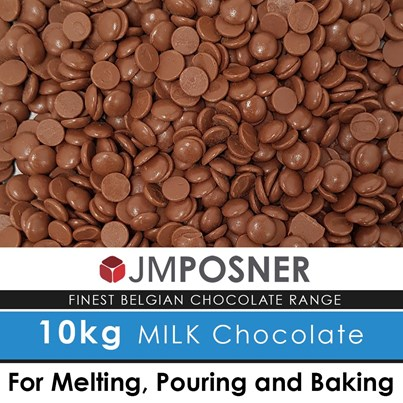 JM Posner Luxury Belgian Fountain Ready Milk Chocolate 10 kg bag