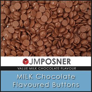 Milk Chocolate Flavoured Buttons - 25 KG VALUE PACK