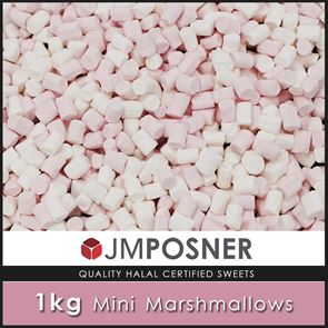 Mini Marshmallows 1KG Bag - Halal